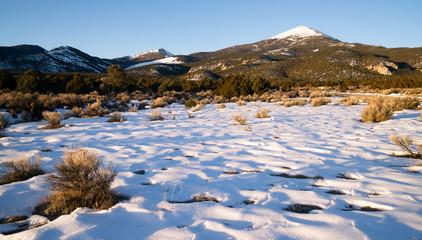 High Mountain Peak Great Basin Region Nevada Landscape