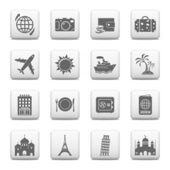 Web buttons, Travel and Landmarks icons