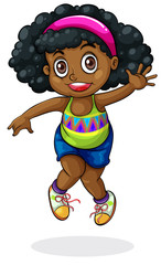 A young Black girl dancing