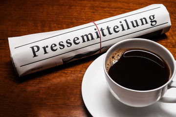 pressemitteilung, cup of coffee