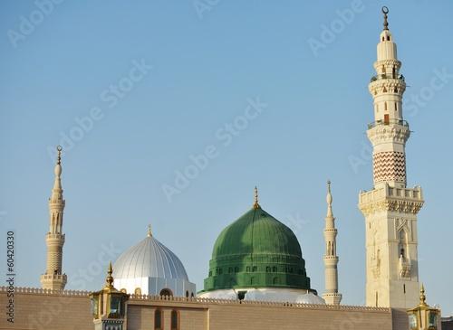 Fototapete Prophet Muhammed holy mosque in Medina, KSA