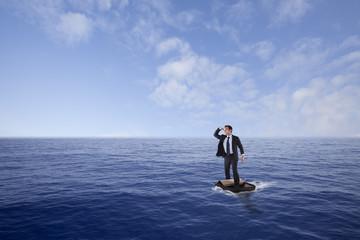 Businessman lost at sea