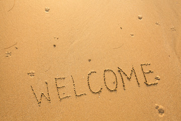 Welcome. Texture on the sand.