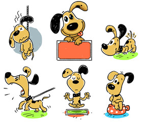 dog, animal, cartoon, pet