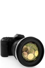 Camera, creative photography, art, business and way of life