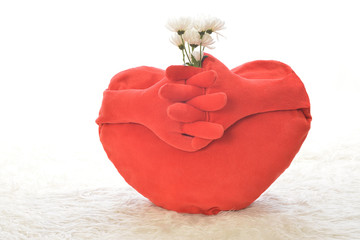 heart with flower