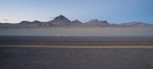 Highway Passes Great Bonneville Salt Flats Silver Island