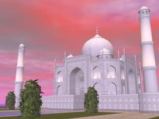 Taj Mahal mausoleum, Agra, India - 3D render