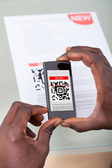 Person Scanning Barcode
