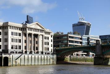 Foto op Canvas Berlijn Thames and London City, Great Britain, Europe