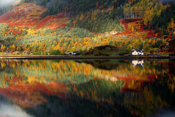 Autumn colors in Highlands, Scotland