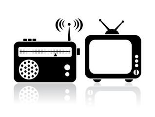 Tv and radio icon
