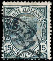 ITALY - CIRCA 1906: A stamp printed in Italy shows a Portrait of