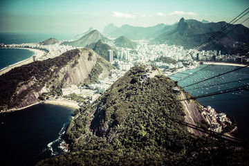 The cable car to Sugar Loaf in Rio de Janeiro Wall mural