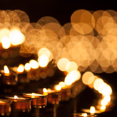 lines of candles