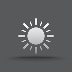 Vector of transparent sun light icon on isolated background