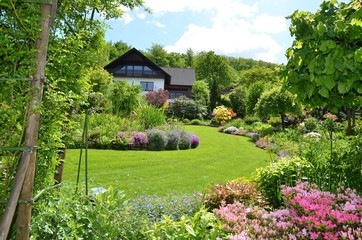 gorgeous garden with various flowers
