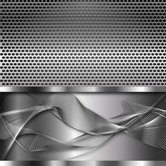 metalowa siatka i wstęgi