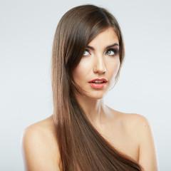 Hair style fashion woman portrait.
