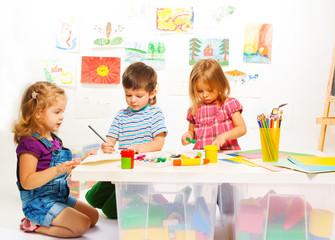 Three creative kids