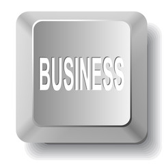 Business. Vector computer key.