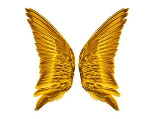 Pair of Golden Bird Wings