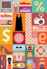 Sale - vector illustration