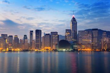 Foto op Aluminium Hong-Kong Hong Kong city skyline