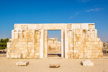 The Monumental Gateway of Amman Citadel in Amman, Jordan.