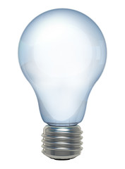 3d Light bulb isolated on white, Realistic photo image