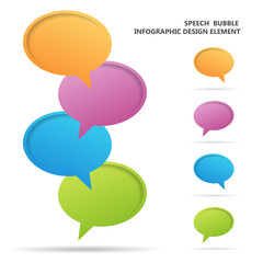 Speech Bubble Infographic Design Elements