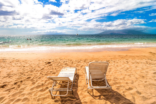 famous Makena Beach in Maui, Hawaii