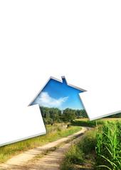 eco-friendly house concept