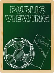 soccer public viewing, w. ticket, free copy space, vector