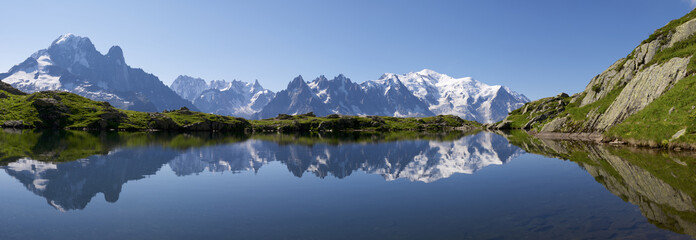 Photo sur Plexiglas Alpes Mont Blanc