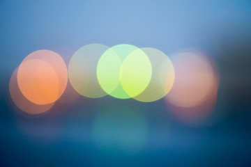 Abstract colorful light bokeh for background