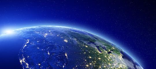 City lights - Canada and USA