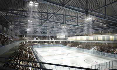 Wall Mural - Eishockeyhalle