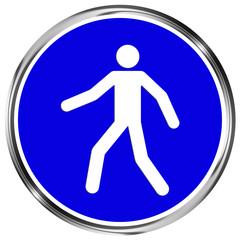 Gebotszeichen Fußgängerweg benutzen