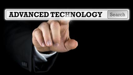Advanced Technology written on a virtual interface