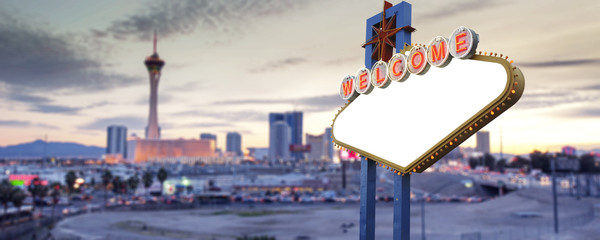 Blank Welcome To Las Vegas neon sign