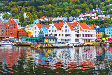 Garden Poster Scandinavia Scenery of Bergen, Norway