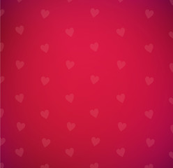 Red love Valentine's Day background with hearts