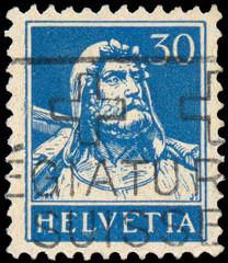 SWITZERLAND - CIRCA 1933: A stamp printed in the Switzerland sho