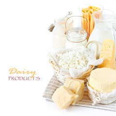 Fresh dairy products.
