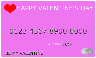 Happy Valentine's Day Credit Card