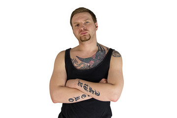 Man with tattooes