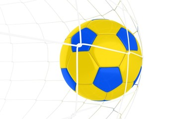 Yellow Blue Soccer Ball
