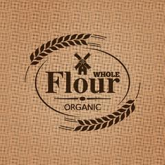 flour sackcloth texture background