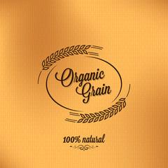 grain organic vintage design background